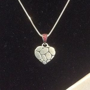 John Hardy Red Sapphire Heart Necklace